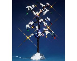 Lemax Village Collection Snowy Dry Tree Large 9 inch Battery Operated # 44785