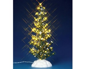 Lemax Village Collection Lighted Pine Tree Large 9 inch Battery Operated # 44787