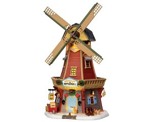 Lemax Village Collection Harvest Valley Windmill with Adaptor # 45678