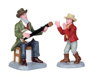 Lemax Village Collection Grandpa's Banjo Set of 2 # 52322