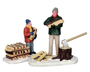 Lemax Village Collection Stacking Firewood Set of 2 # 52323