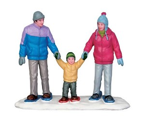 Lemax Village Collection Snowshoe Family # 52336