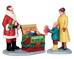 Lemax Village Collection A Season Of Giving Set of 2 # 52347