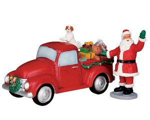 Lemax Village Collection Santa's Truck Set of 2 # 53219