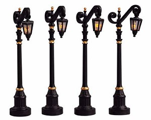Lemax Village Collection Colonial Street Lamp Set of 4 # 54313