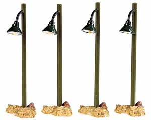 Lemax Village Collection Rustic Street Lamp Set of 4 # 54362
