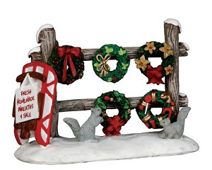 Lemax Village Collection Christmas Wreaths 4 Sale # 54942