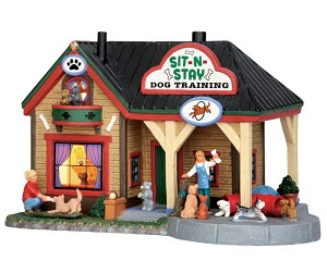 Lemax Village Collection Sit-N-Stay Dog Training # 55944