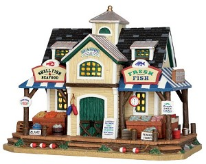 Lemax Village Collection Seaside Fish and Seafood Market # 55945