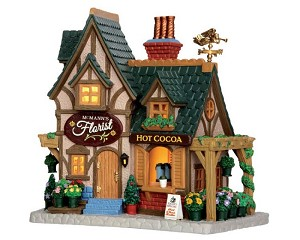 Lemax Village Collection Mcmann Florist # 55972