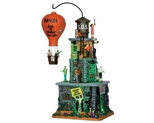 Lemax Spooky Town Zombie Fortress with Adaptor # 55998