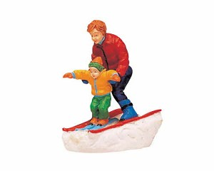 Lemax Village Collection Father & Son Skiing # 62169