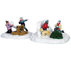 Lemax Village Collection Snowball Surprise Set of 2 # 63270