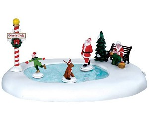 Lemax Village Collection North Pole Ice Follies Battery Operated  # 64045