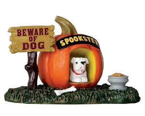 Lemax Spooky Town Pumpkin Doghouse # 64053