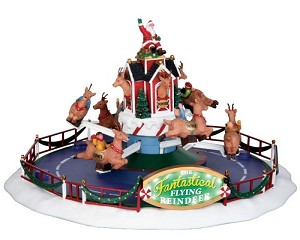 Lemax Village Collection Reindeer On Holiday with Adaptor # 64058