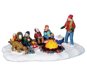 Lemax Village Collection Sledding Potluck Battery Operated  # 64085