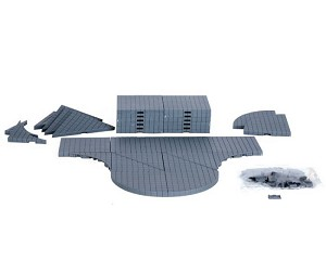 Lemax Village Collection Plaza System Grey Variety 32 pieces # 64099