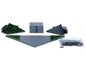 Lemax Village Collection Plaza System Grey Triangle Grass 24 pieces # 64109