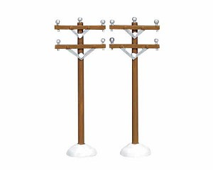Lemax Village Collection Telephone Poles Set of 2 # 64461