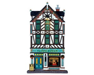 Lemax Village Collection The Dog & Duck Pub Facade Battery Operated  # 65073
