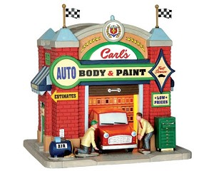 Lemax Village Collection Carl's Auto Body & Paint # 65119