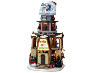 Lemax Village Collection North Pole Observatory with Adaptor # 65132