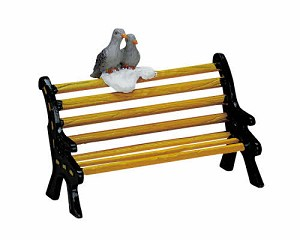 Lemax Village Collection Metal Bench # 74626