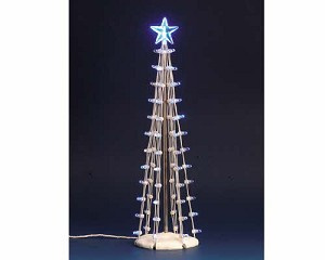 Lemax Village Collection Lighted Silhouette Tree Blue 9 inch # 74657