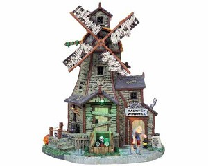 Lemax Spooky Town Haunted Windmill with Adaptor # 85667