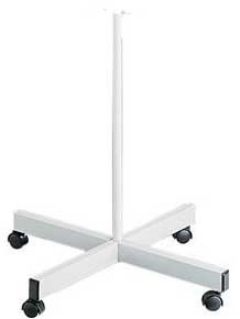 Rolling Floor Stand with 4 Castors White